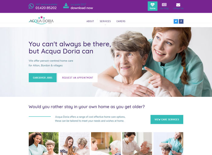 Acqua Doria Web Design