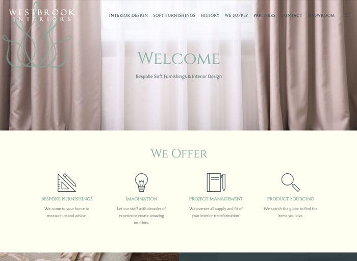 Westbrook Interiors Alton Web Design